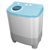 POLYTRON Mesin Cuci Twin Tub [PWM 7556CC] - Full Cyan - Mesin Cuci Twin Tub